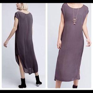 NWOT Cloth & Stone gray t shirt Tunic Dress Maxi S